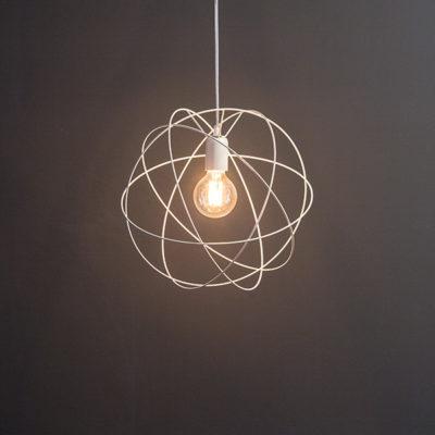 Atome suspension petit format - beige naturel
